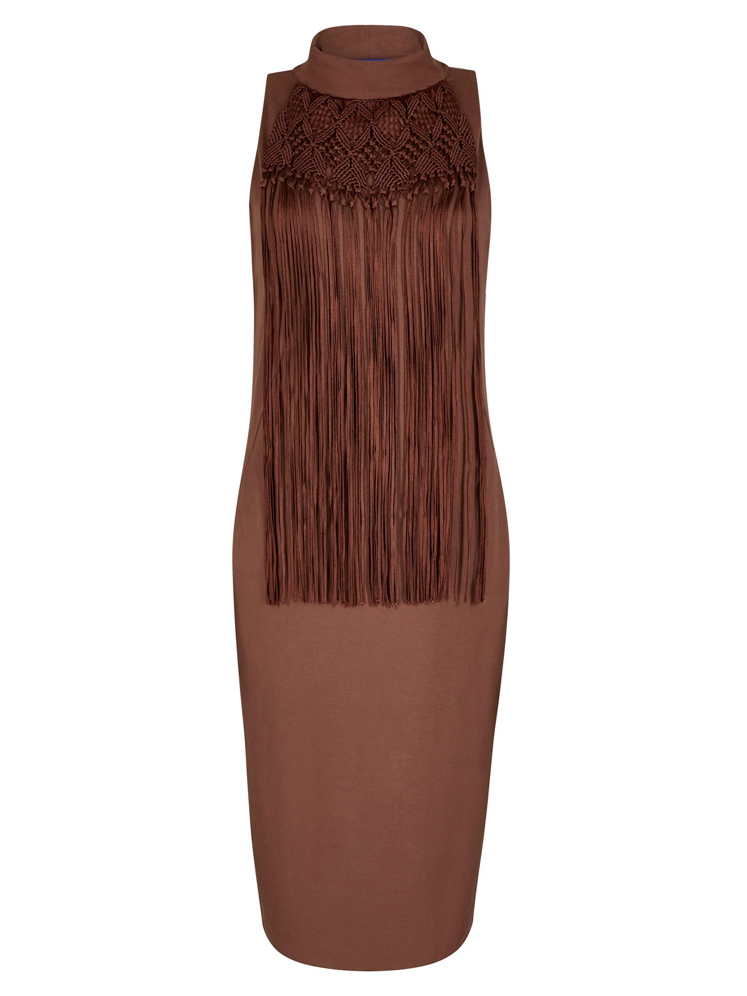 Winser London Macrame Dress, Brown