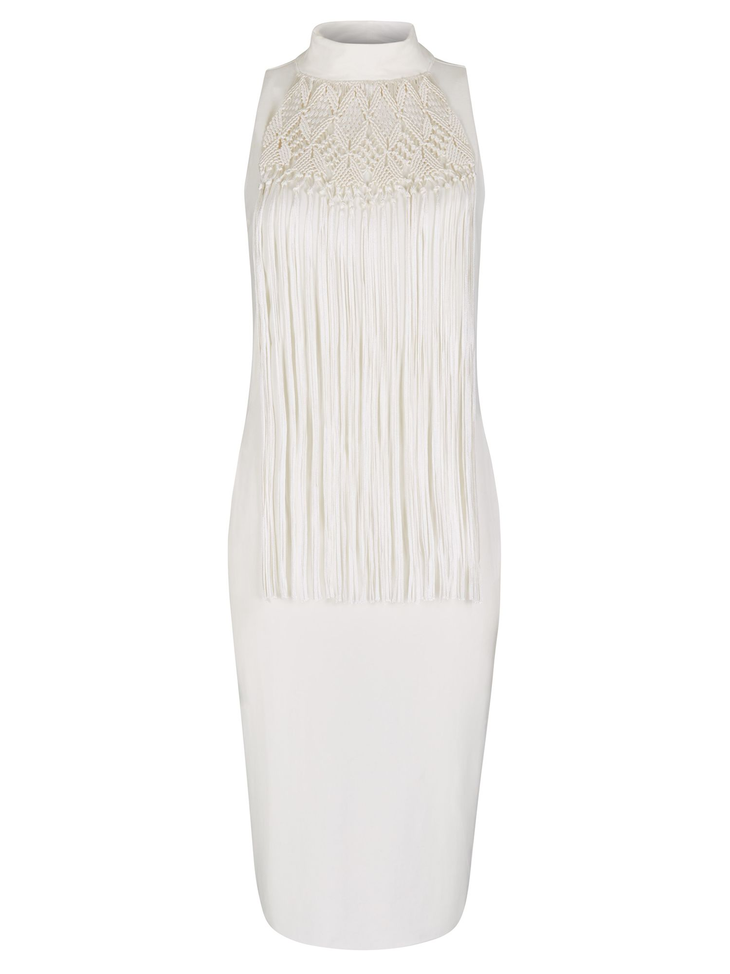 Winser London Macrame Dress, White