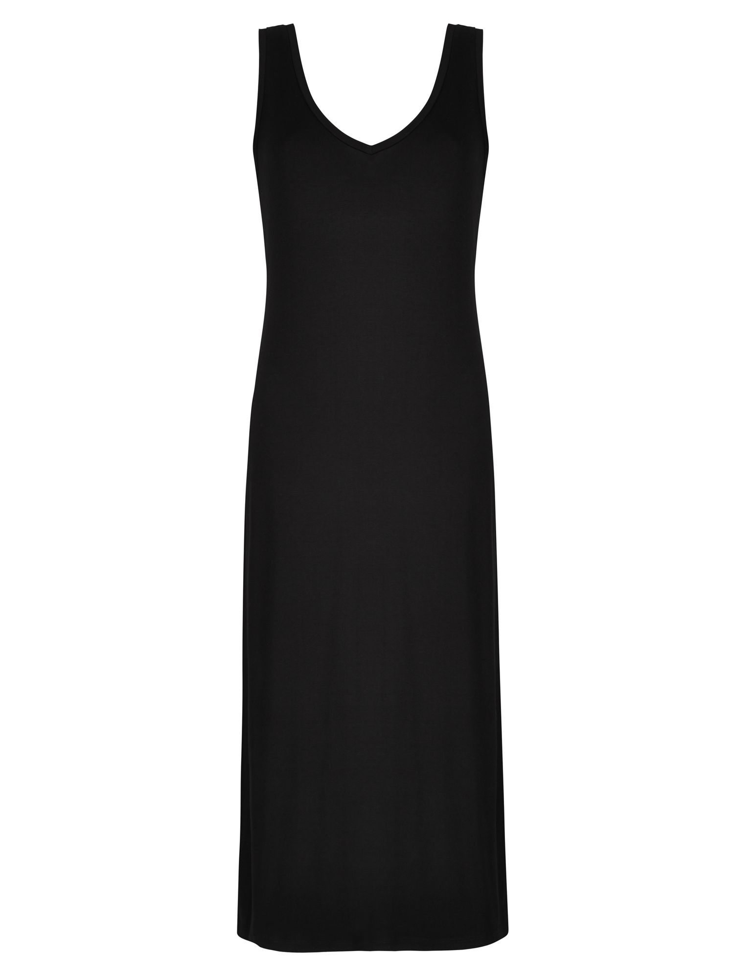 Winser London Brigitte V Neck Jersey dress, Black