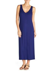 Winser London Brigitte V Neck Jersey dress
