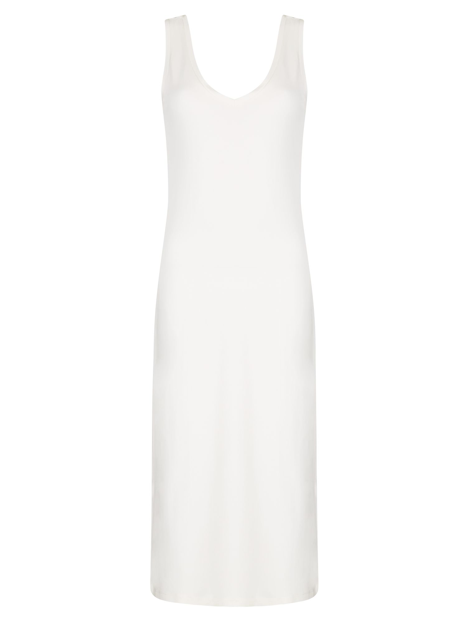 Winser London Brigitte V Neck Jersey dress, Cream