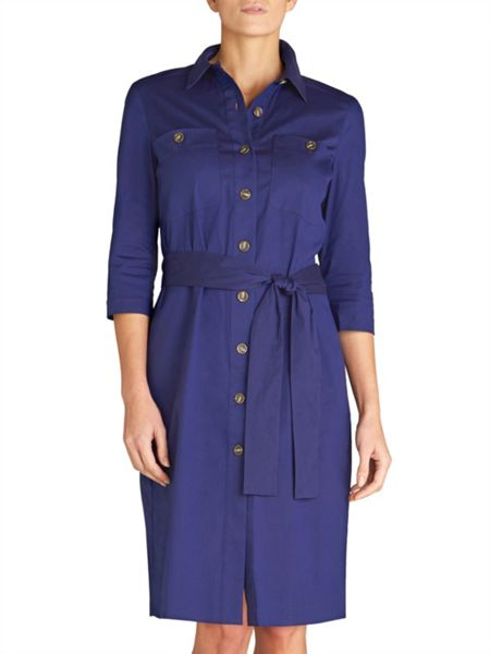 Winser London Cotton Poplin Shirt Dress