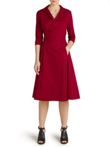 Winser London Cotton poplin wrap dress