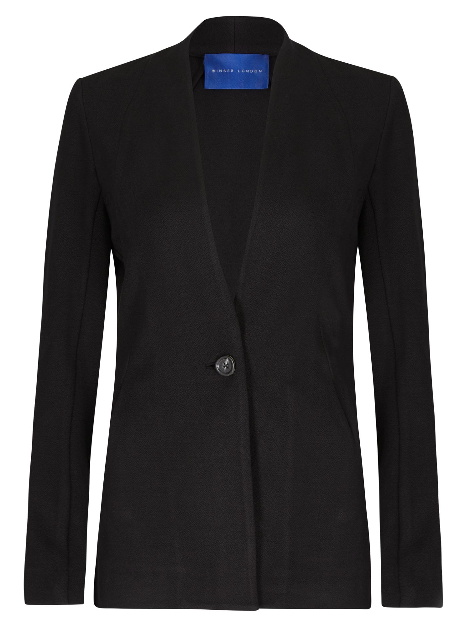Winser London Crepe Jersey Jacket, Black