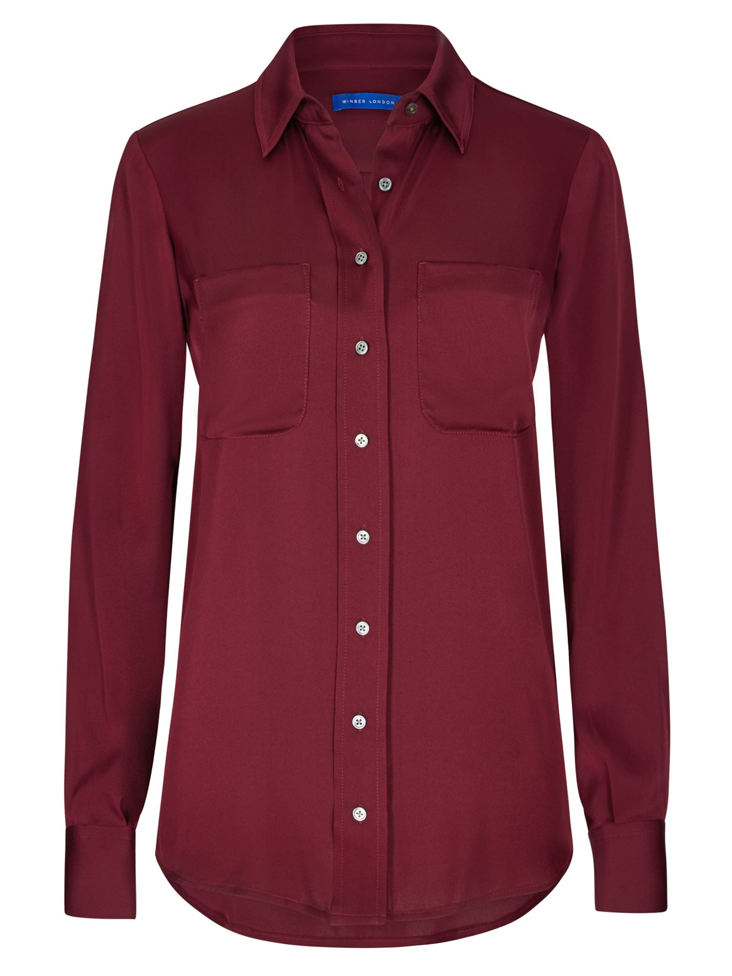 Winser London Silk Shirt, Red