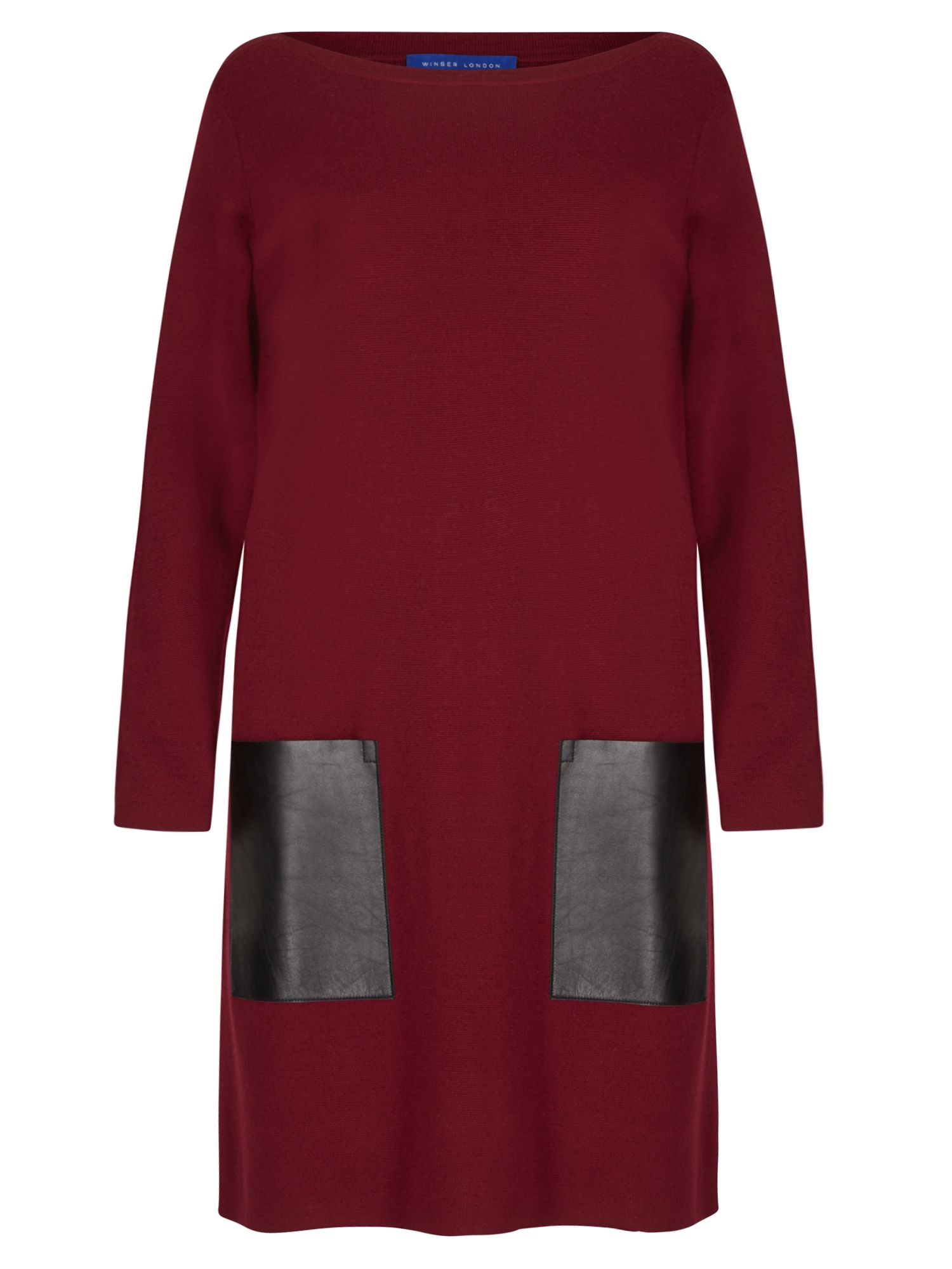 Winser London Milano Wool Dress With Pockets, Red