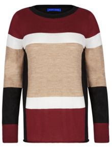 Winser London Merino Wool Colour Block Jumper