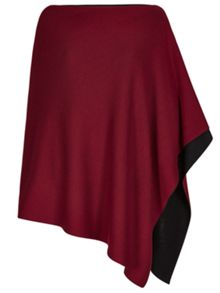 Winser London Reversible Merino Wool Poncho