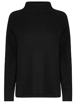 Audrey Cashmere Funnel Neck Jumper
