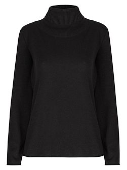 Wool Cashmere Roll Neck Jumper