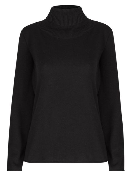 Winser London Wool Cashmere Roll Neck Jumper
