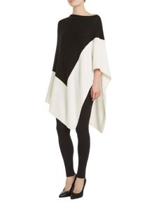 Winser London Wool Cashmere Colour Block Poncho