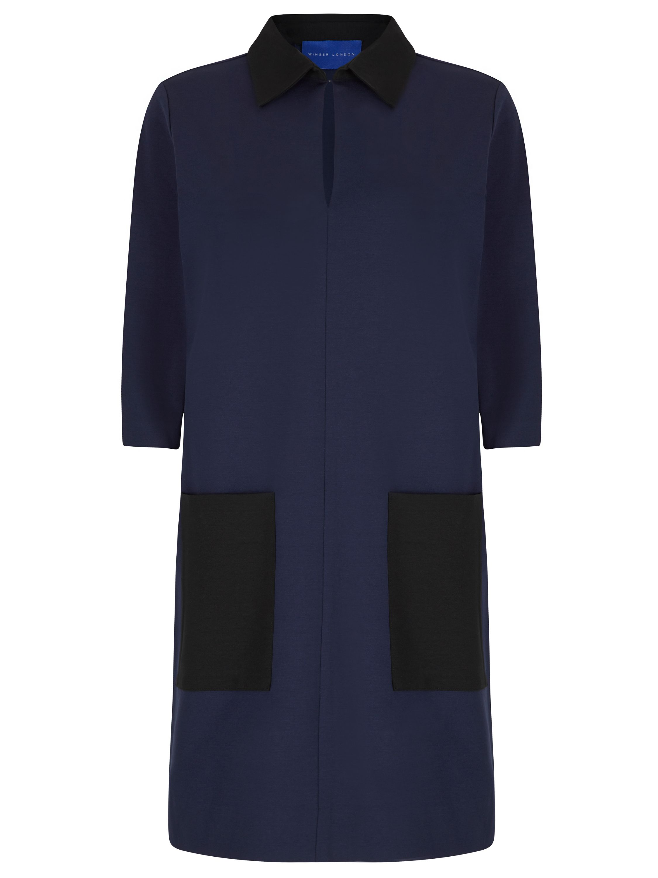 Winser London Miracle Colour Block Shift Dress, Midnight