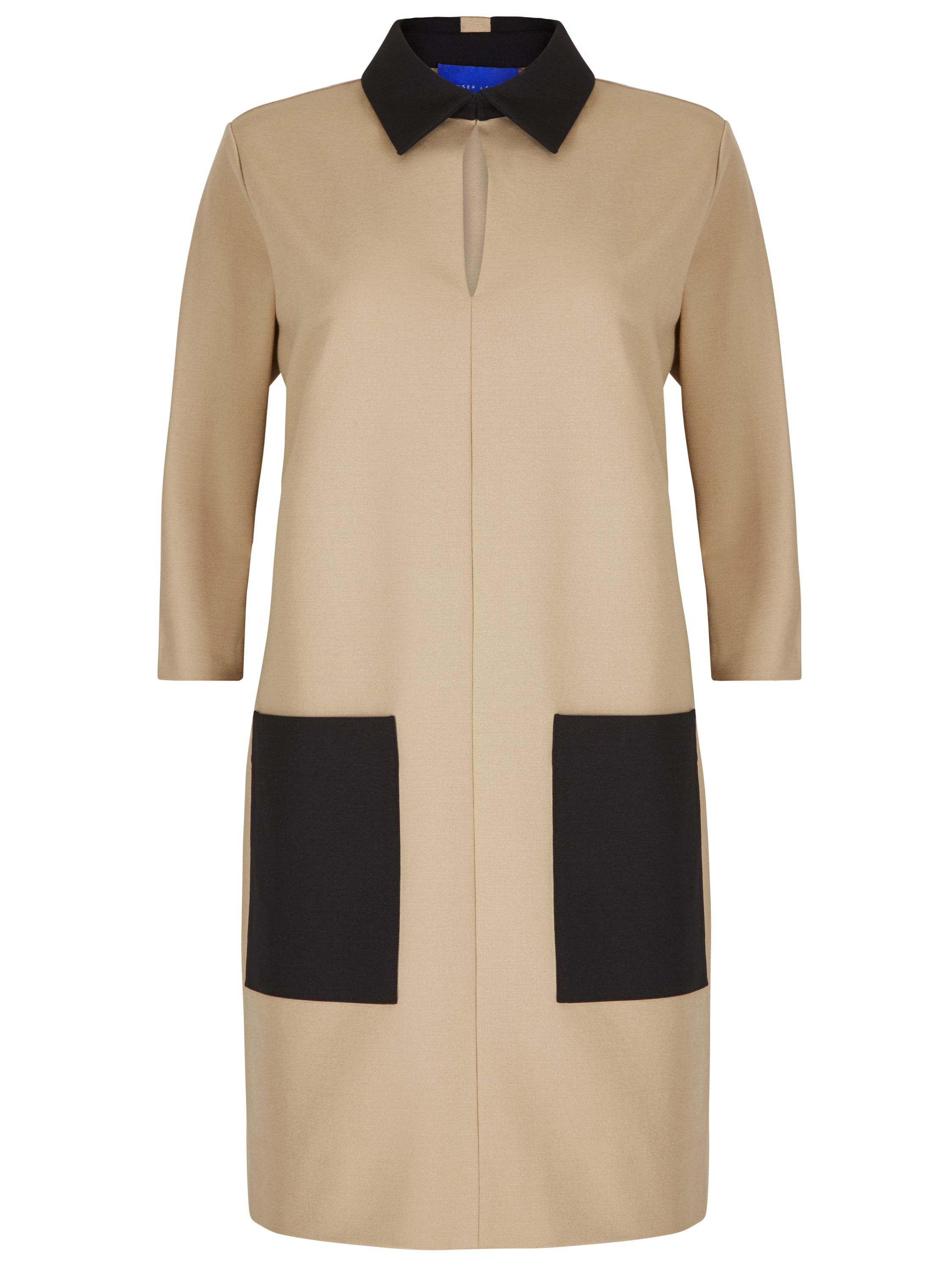 Winser London Miracle Colour Block Shift Dress, Camel