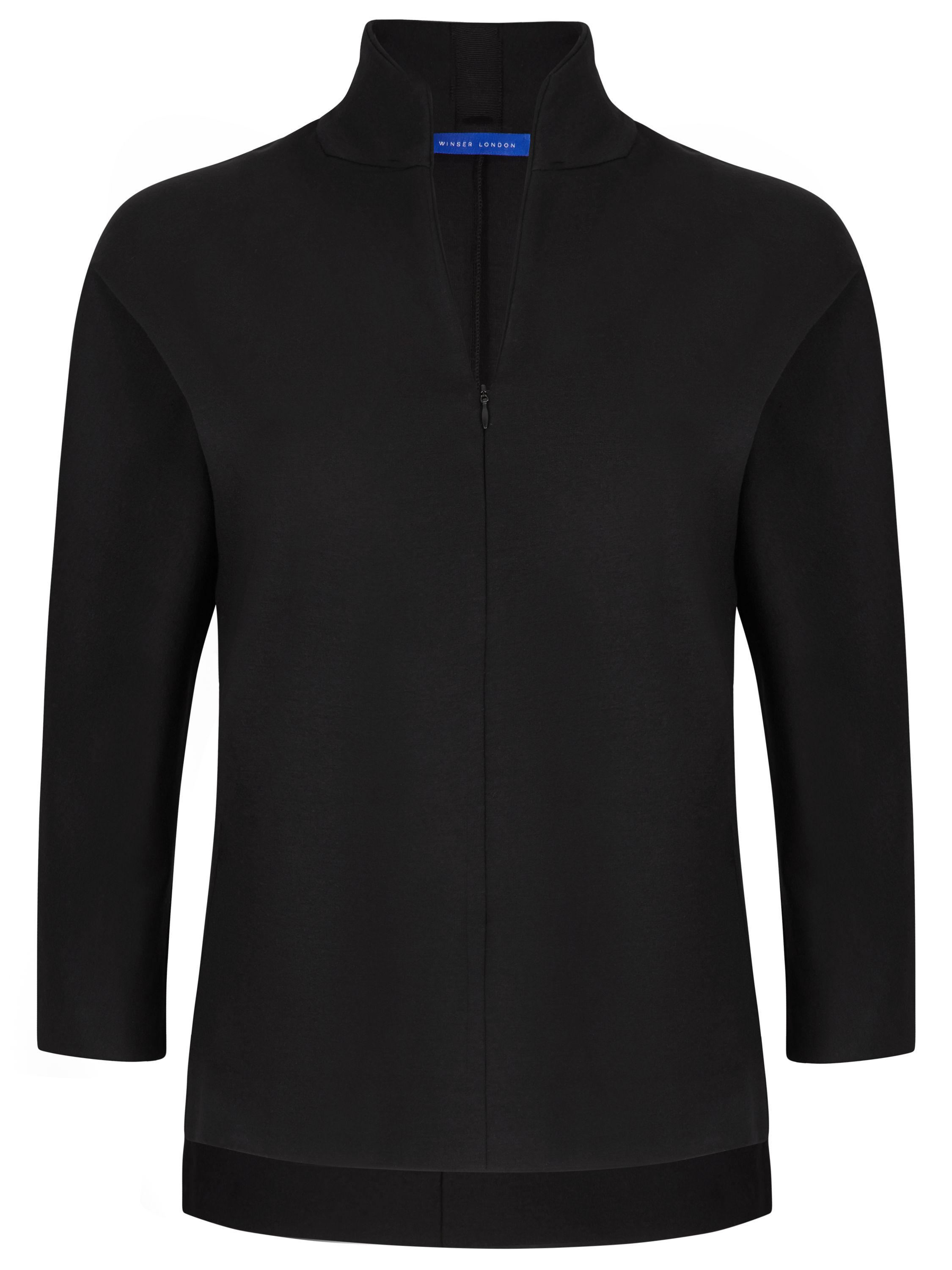 Winser London Emma Miracle Zip Top, Black