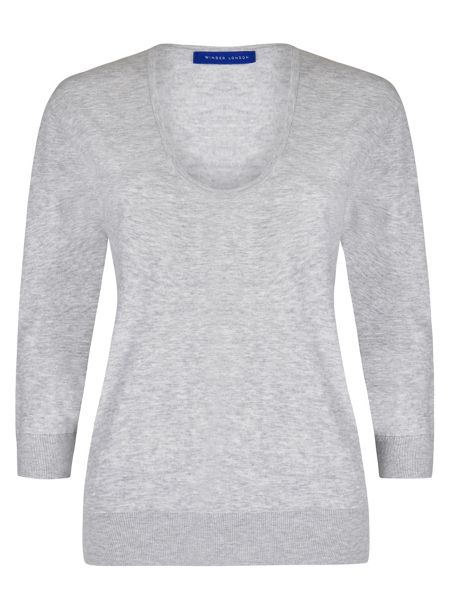 Winser London Brigitte Scoop Neck Jumper