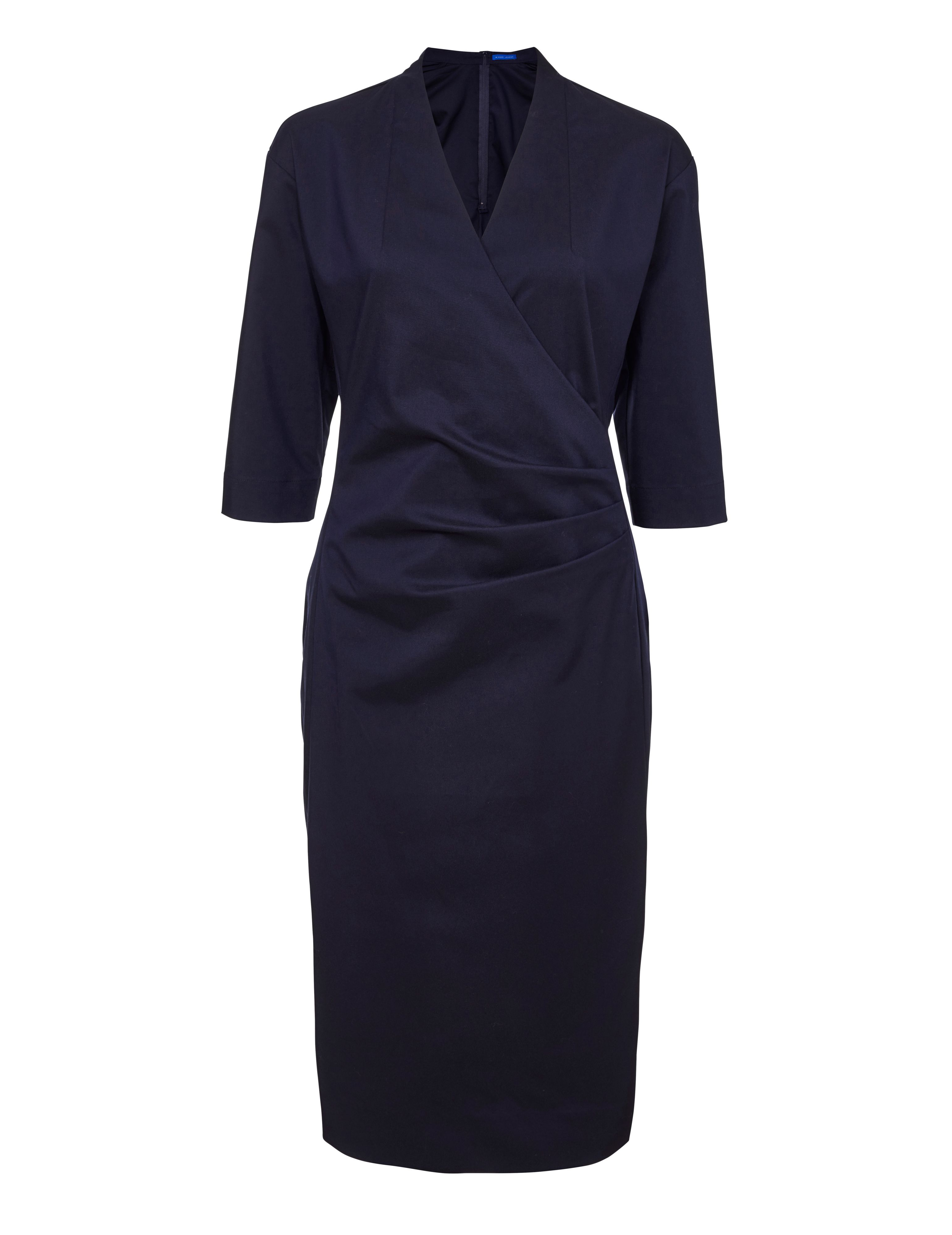 Winser London Cotton Twill Miracle Dress, Blue