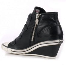 Ash Genial Leather Mid-Wedge Trainers