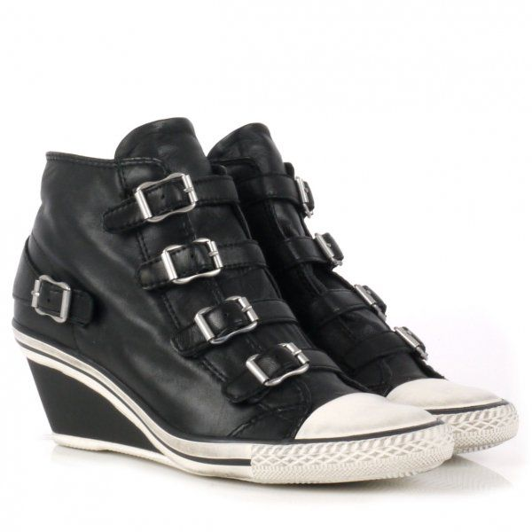 Genial Leather Mid-Wedge Trainers