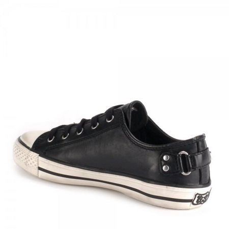 Ash Virgo Leather Lace-Up Flat Trainers