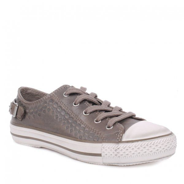 Virgo Leather Lace-Up Flat Trainers