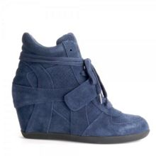Bowie Suede High-Top Wedge Trainers