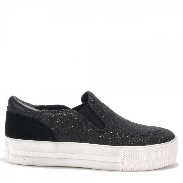Ash Jungle Bis Black Glitter Trainers