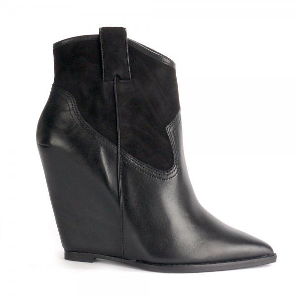 Jude Leather/Suede Wedge Boot