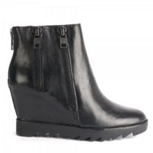 Iggy Leather Wedge Anke Boots
