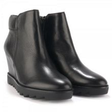 Iron Leather Wedge Anke Boots