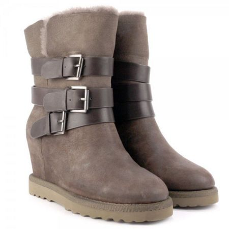 Ash Yes Leather/Fleece Lined Wedge Boots