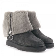 Yorki Suede Fleece Lined Wedge