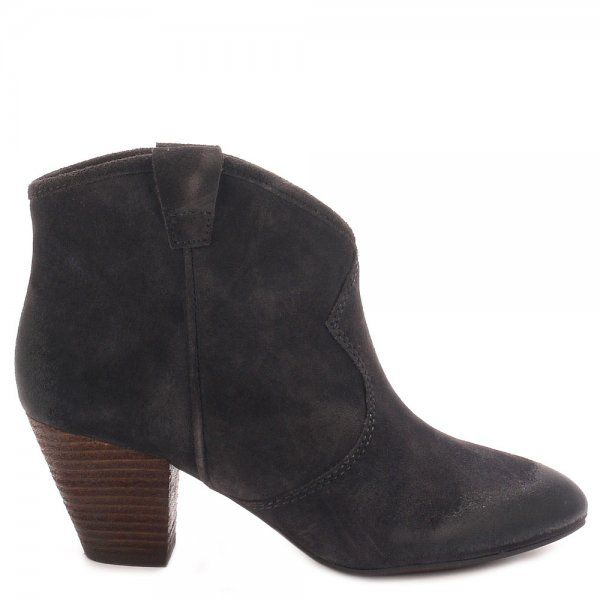 Ash Jalouse Classic Suede Ankle Boots Brown