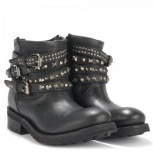 Tatum Leather Studded Biker Boots