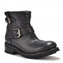 Trick Leather Biker Boots