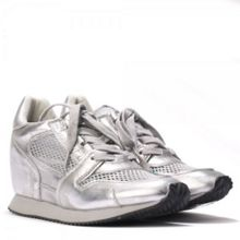 DEAN mesh wedge leather trainers