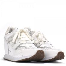 Dean mesh leather wedge trainers