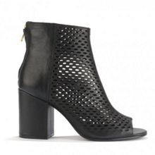 FANCY BIS leather heeled boots
