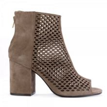FANCY BIS goatsuede heeled boots