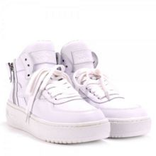 FLY gloss croco leather trainers