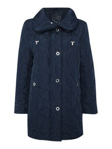 Shawl Collar Quilted Coat