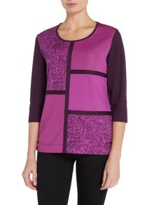TIGI Three Quarter Sleeve Panel Top