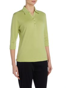 TIGI Three Quarter Sleeve Polo Neck Top