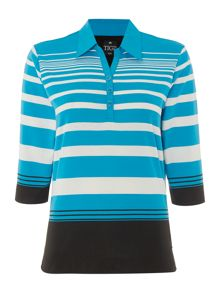 TIGI Three Quarter Sleeved Striped Top