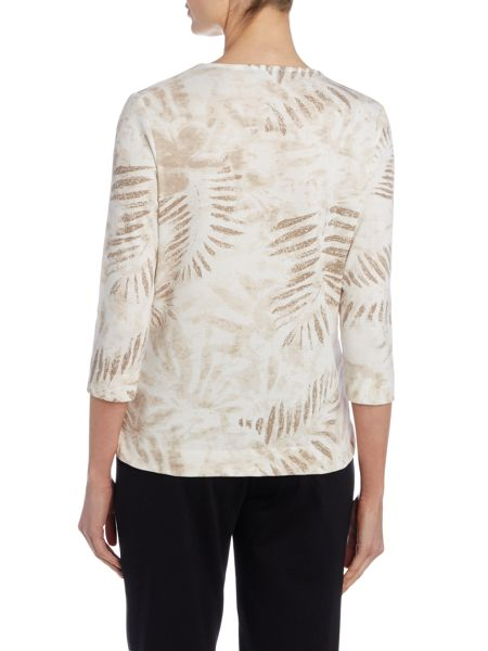 TIGI Three Quarter Sleeve Square Neck Top