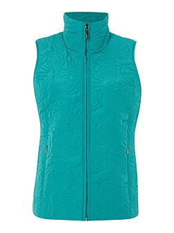 Floral Quilted Gilet