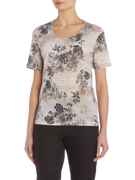 TIGI Short Sleeve Crew Neck Top