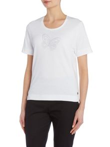 TIGI Short Sleeve Jersey Crew Neck Top