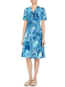 TIGI Short Sleeve Jersey Print Dress