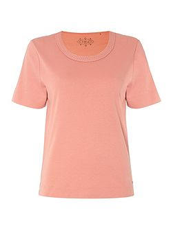 Short Sleeve Round Neck Top